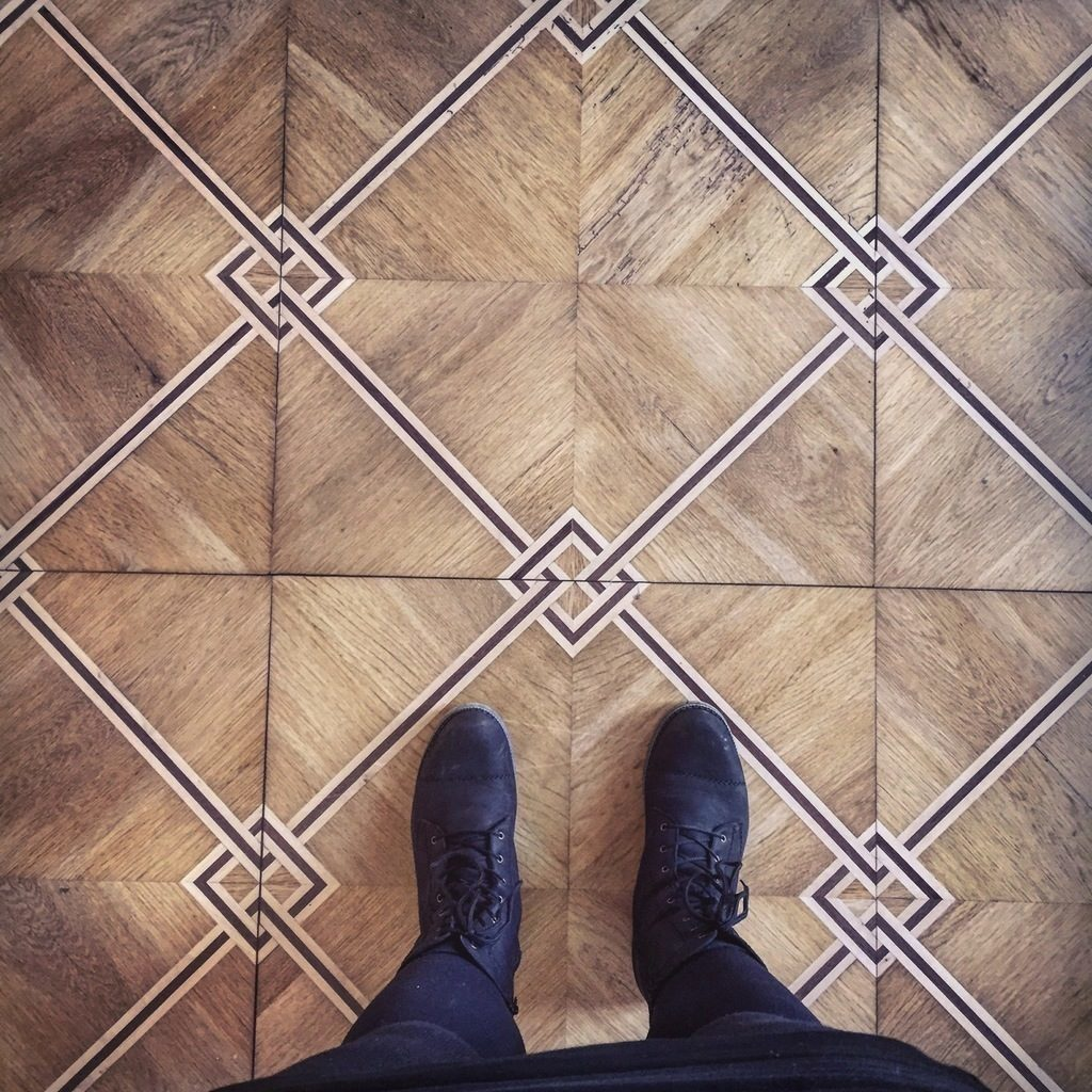 An example of the floors in Ribe Kunstmuseum