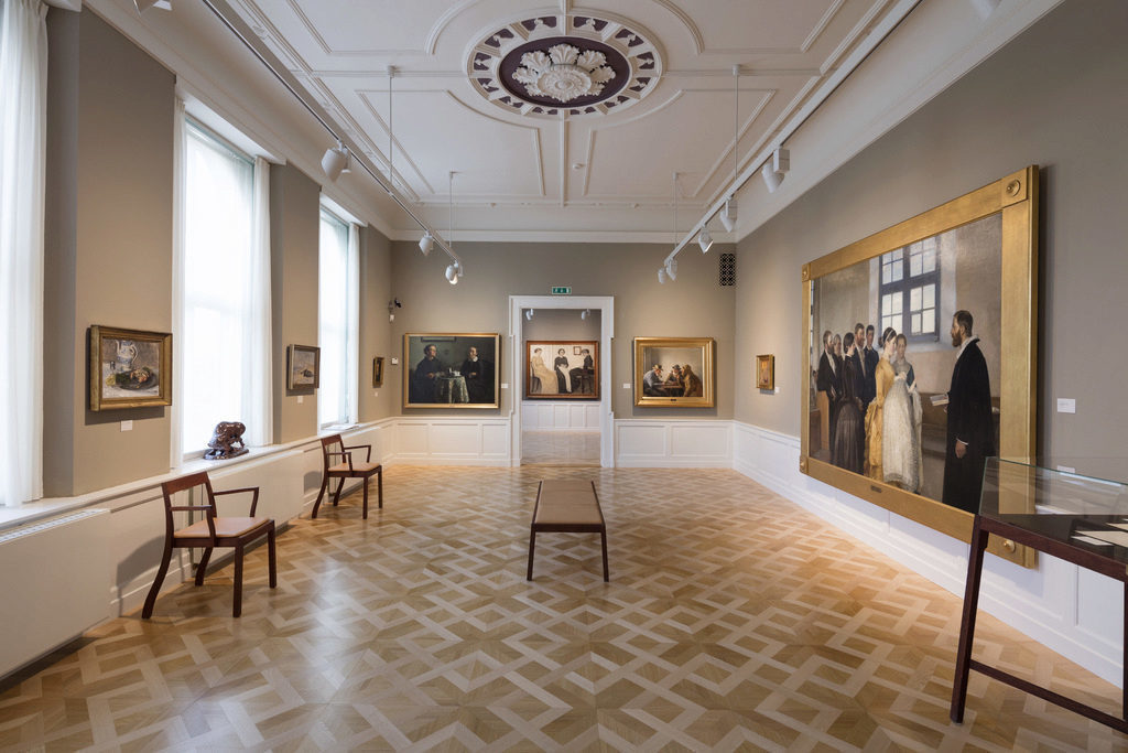 A new floor was installed in the Skagen painters gallery, designed by the architect, Ditte Schmidt, Photo: Anders Sune Berg