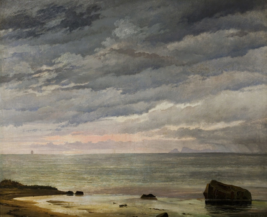 "J.Th. Lundbye, ""Den opgående sol over havet"". 1838"
