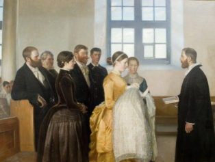 A christening. Motive from Skagen's Church