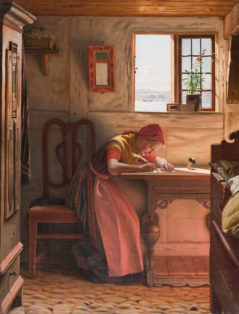 Young Girl Writing a Letter