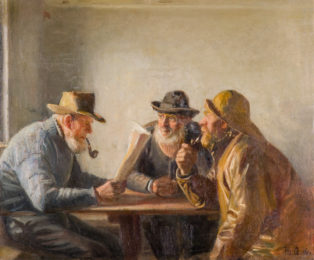 Fishermen in the tap-room